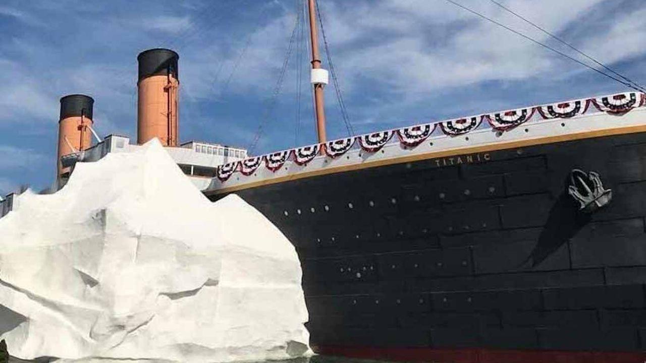 ¿La maldición del Titanic? Se derrumba muro de hielo en el museo del barco