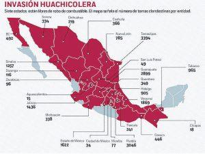 Los estados huachicoleros