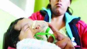 Hospitalizan a 3 niños  por males respiratorios