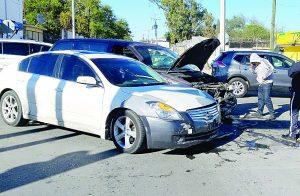 Abuela herida en accidente
