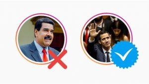 Instagram le quitó la verificación a Maduro y se la regaló a Guaidó