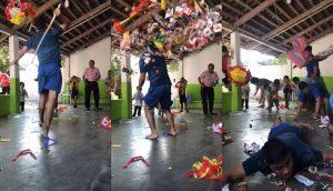 Así se ve en cámara lenta cómo un joven rompe un piñata y se vuelve la sensación en redes