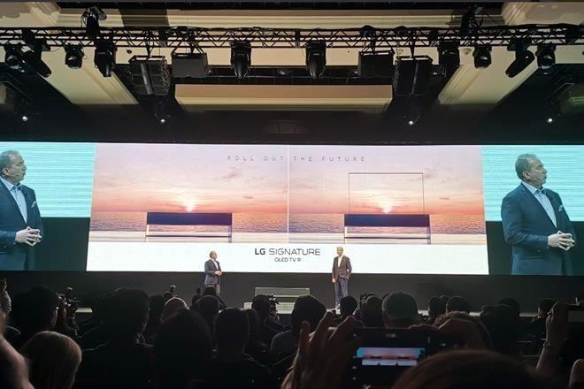 Presentan pantalla enrollable en CES 2019