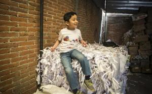 Con apenas 5 años, Memo emprende y fabrica confeti sustentable