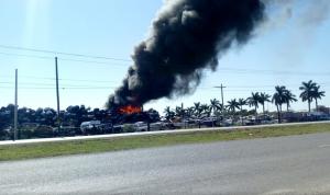Incendio de mesón federal, en Altamira