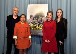 Angelina Jolie organiza una proyección privada de Roma con Yalitza Aparicio