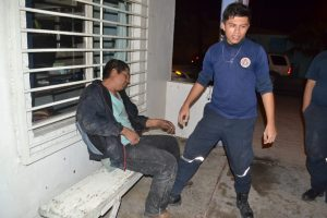 Reportan atropellado; lo tumba el alcohol