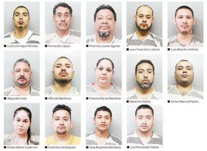 Arrestan a 14 delincuentes en Laredo