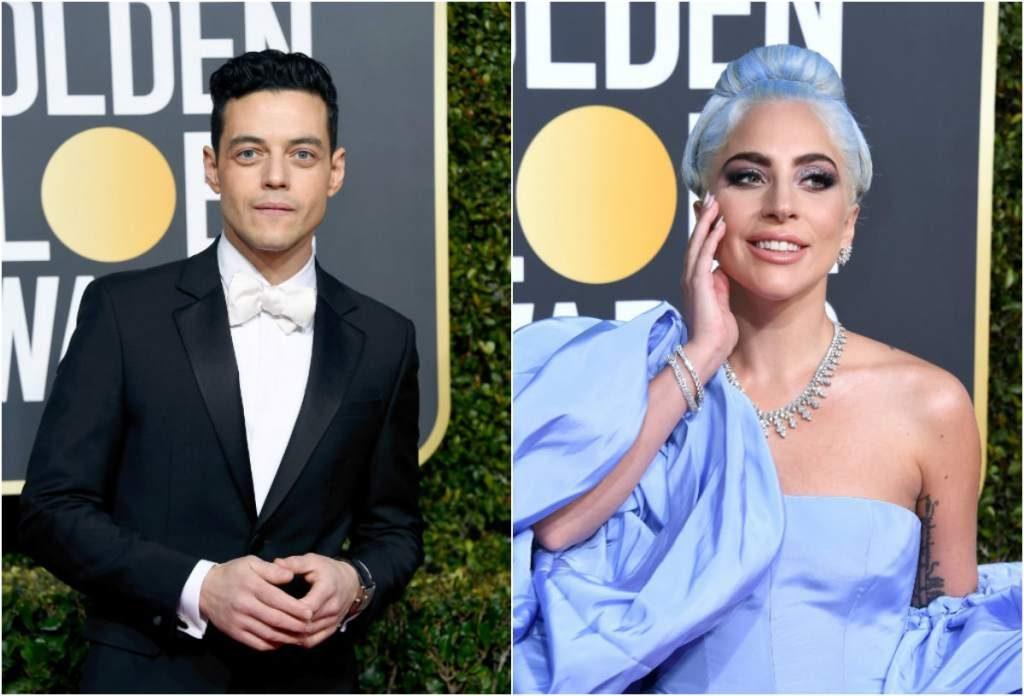 VIDEO: El tímido saludo de Rami Malek a Lady Gaga se hace viral