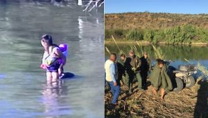 Rescatan a bebé y a su mamá en el río Bravo