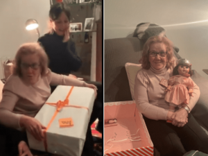 Abuelita recibe muñeca que siempre anhelo a los 71 años (VIDEO)