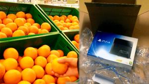 Roba un PS4 haciéndolo pasar por fruta