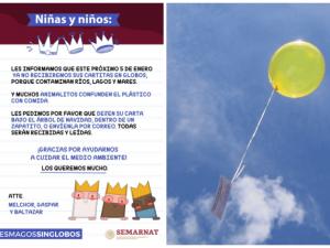 Reyes Magos ya no recibirán cartitas enviadas en globos