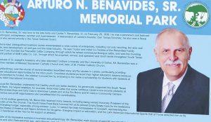 Nombran parque en honor a Arturo N. Benavides