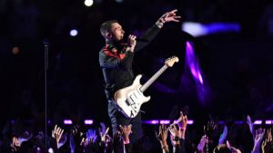 El show de Maroon 5 en el medio tiempo del Super Bowl LIII