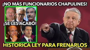 AMLO Hace HISTORICA ley para acabar con los funcionarios Chapulines ¡No creerás lo que dijo!