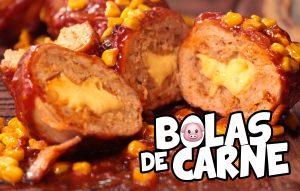 Exquisitas bolas de carne bañadas en salsa bbq casera ¡Para chuparse los dedos!
