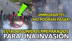 ¡IMPRESIONANTE! Oficiales CBP de Estados Unidos se preparan para una invasión de inmigrantes