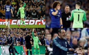 Portero del Chelsea no quiso salir de cambio y provoca furia del técnico
