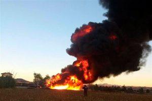 Se incendia ducto de Pemex en Puebla