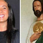 Destrozan a Yolanda Andrade por blasfemar con imagen de San Judas Tadeo