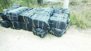 Hallan 276   kilos de droga abandonada