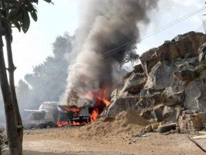 Se incendia pipa en Milpa Alta, hay varios heridos