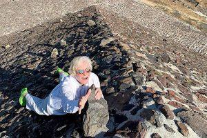 Glenn Close arriesga su vida en Teotihuacán