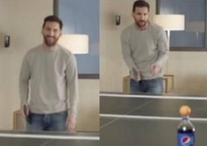 Lio Messi, un 'crack' para el ping pong también