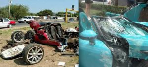 El primer Koenigsseg se estrelló en Nuevo Laredo
