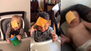Nuevo reto viral: aventar queso en la cara a bebés