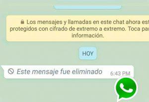 Cómo leer un mensaje eliminado en WhatsApp