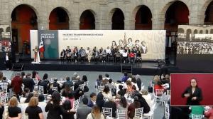 AMLO encabeza celebración por el Día Internacional de la Mujer