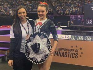 Coco inspiró la rutina de la gimnasta mexicana Ana Lago