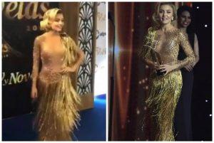 Explotan las redes por vestido de Angelique Boyer