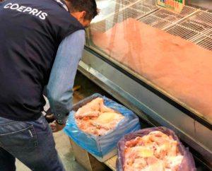 Verifica Coepris calidad del pollo en Matamoros