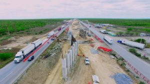 Caos por construcción  de la nueva autopista