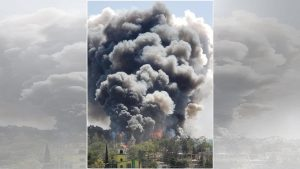 Se reporta explosión en zona cohetera de Chimalhuacán