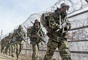 Tensión militar  en la frontera