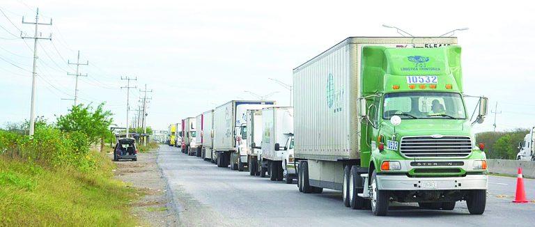 Enviarán carga a Puente Colombia - Nuevo Laredo
