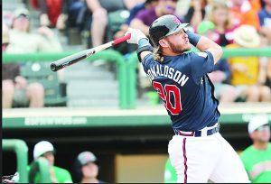 Donaldson  batea a Rockies