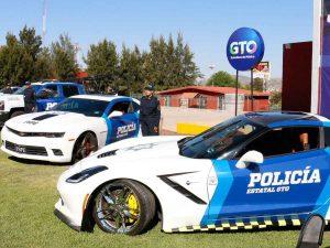 Mustangs, camaros, corvettes… las nuevas patrullas en Guanajuato