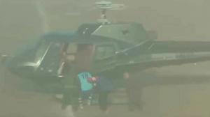 Futbolista es secuestrado por helicóptero en medio del estadio