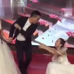 VIDEO: Vestida de novia aparece en la boda de su ex para arruinarlo todo