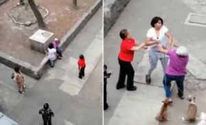 Captan a una joven que golpea a abuelita