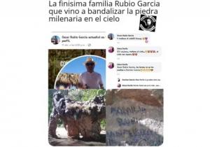 Ubican a familia que firmó y dañó piedra de millones de años en Tamaulipas