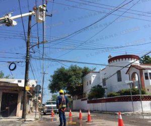 Dejan lluvias y vientos apagón en el centro de Reynosa