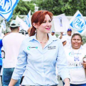Viola Imelda la ley electoral;  le aplican multa