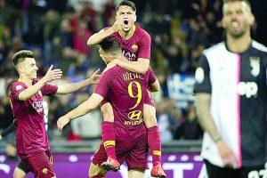 Sorprende Roma a Juve y sueña con  Champions