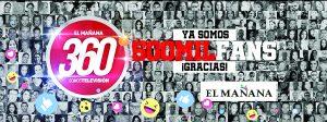 Logra El Mañana 500K en facebook